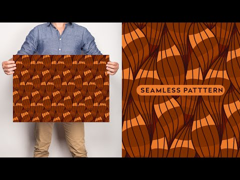Complex Seamless Vector Pattern Design - Speed Process