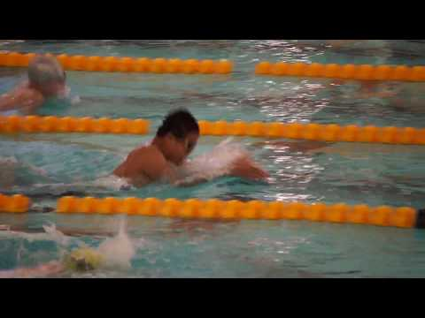 Leonard Wu swam 50 yard breast stroke in Suburban Aquatic League Southwest Division Champion Meet