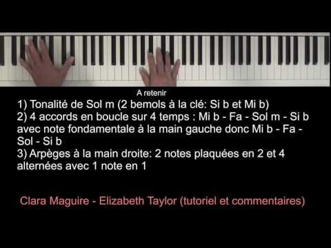 Clare Maguire - Elizabeth Taylor (piano tutoriel)
