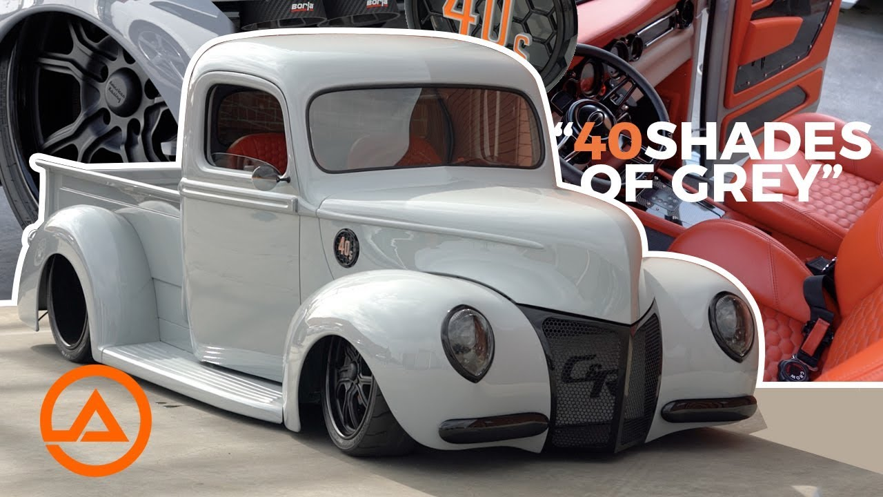 Full Custom 1940 Ford Truck | 40 Shades of Grey | SEMA ...