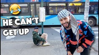How To Stick Your Friend To A Pole!! (HILARIOUS)