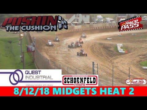 Angell Park Speedway - 8/12/18 - Badger Midgets - Heat 2
