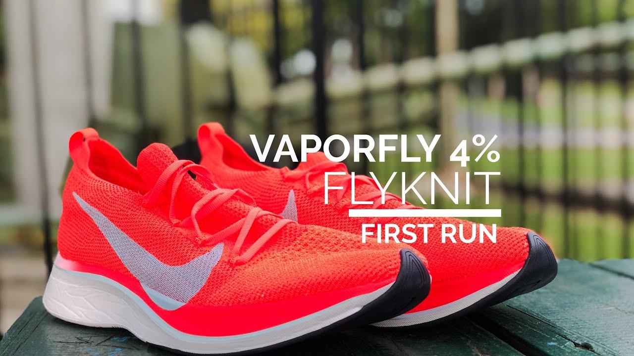 5f7dd14eab61 Vaporfly 4% Flyknit First Run + giveaway winner announcement - YouTube