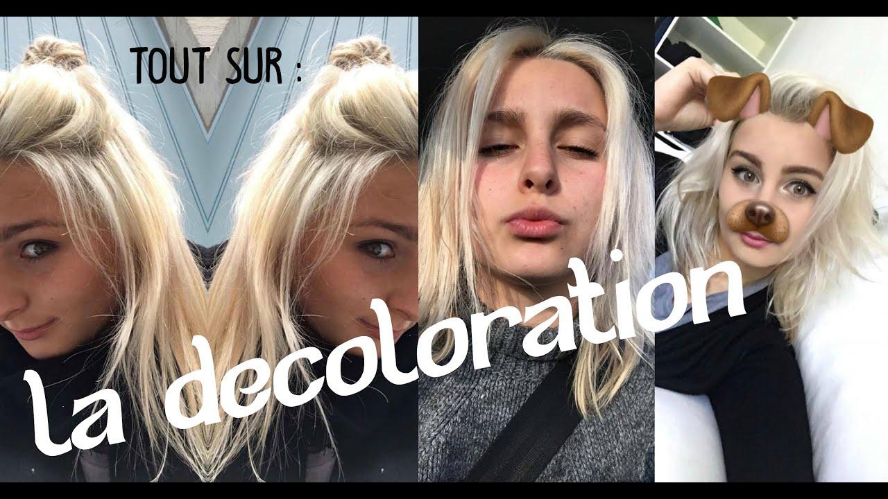 Coloration blonde sur cheveux brun sans decoloration