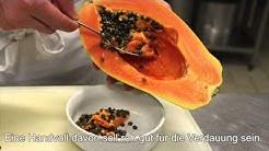 So isst du eine Papaya – Zubereitung ganz einfach (Exotische Früchte, Teil 2)