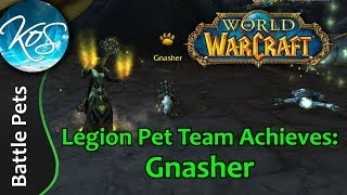 World of Warcraft: GNASHER ACHIEVEMENT - Legion Pet Battles - WoW Battle Pet Strategy