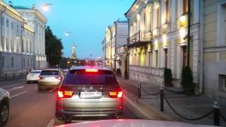 Moscow Summer night cruising + supermoon