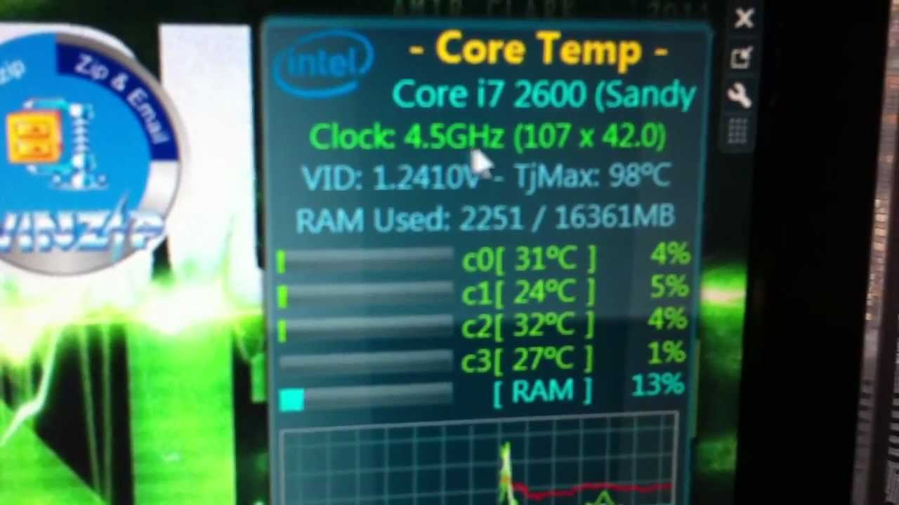 Intel i7 2600 no K version Overclocking (proved) - YouTube