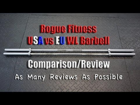 Rogue Fitness EURO Olympic WL Bar Review + NA WL Barbell