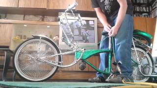 LOWRIDER BIKE WITH AIR HYDRAULICS (kits for sale!)