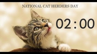 National Cat Herders Day 2 Minute Timer.