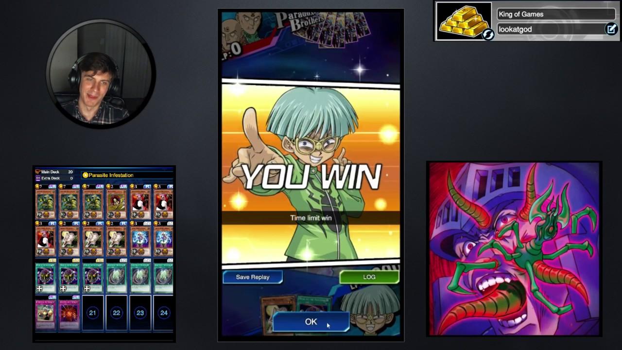 yu gi oh duel links king of games weevil beast burn deck youtube