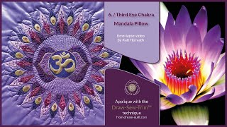 "How it was made - ""6th Third Eye Chakra Mandala"" Pillow (DST / Time-lapse)"
