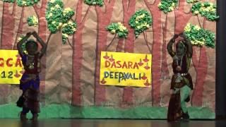 Sanju (Sanjana Tamma) Stage performance - Akhilandeswari Chamundeswari song - TAGCA 2012