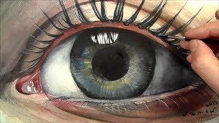 Soul, Painting  Realistic Eye in Watercolour, Time Lapse