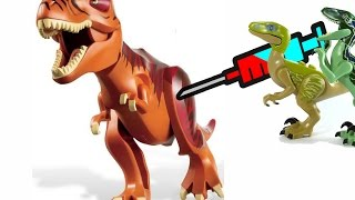 ЛЕГО ДИНОЗАВРЫ - Тираннозавр Рекс СПИТ на ходу! ЧТО С НИМ сделали Велоцирапторы? Выбирай Приз!