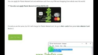 Get Free NETELLER Net+ Virtual MasterCard Use Worldwide