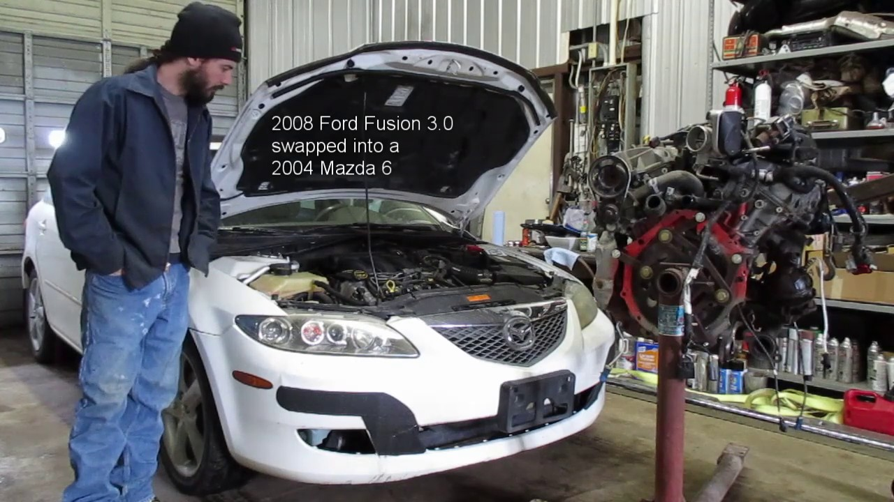 Mazda 6 step by step engine swap with Ford Fusion 3 0
