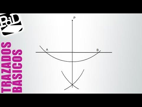 Perpendicular a una recta por un punto exterior.