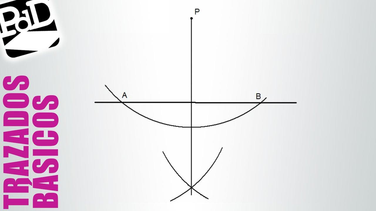 Perpendicular a una recta por un punto exterior. - YouTube