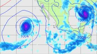 Giro drastico del huracan Sergio (5/oct/2018)