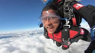 Winter Skydiving in Interlaken, Switzerland