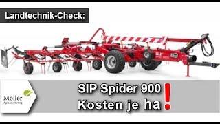 Rechnet sich der Kauf? Gezogener Kreiselheuer SIP Spider 900/8 T im Landwirt.com Praxistest