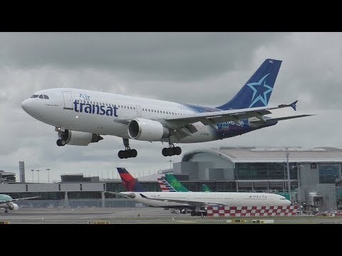 1 Hour of Summer Plane Spotting at Dublin Airport | 777 757s A330s A310 & More