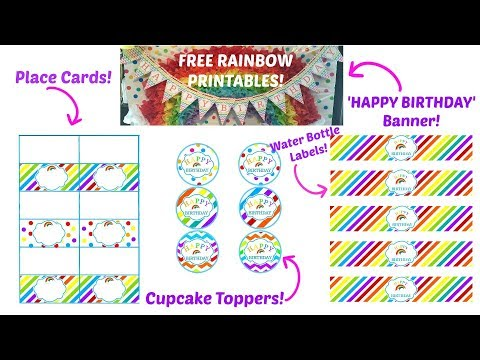 FREE RAINBOW PARTY PRINTABLE PACK! - INSPIRE HAPPENINGS