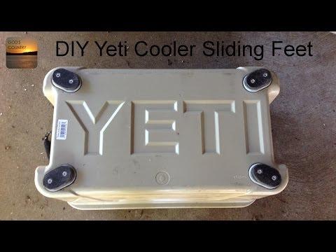 DIY Yeti Cooler Sliding Feet