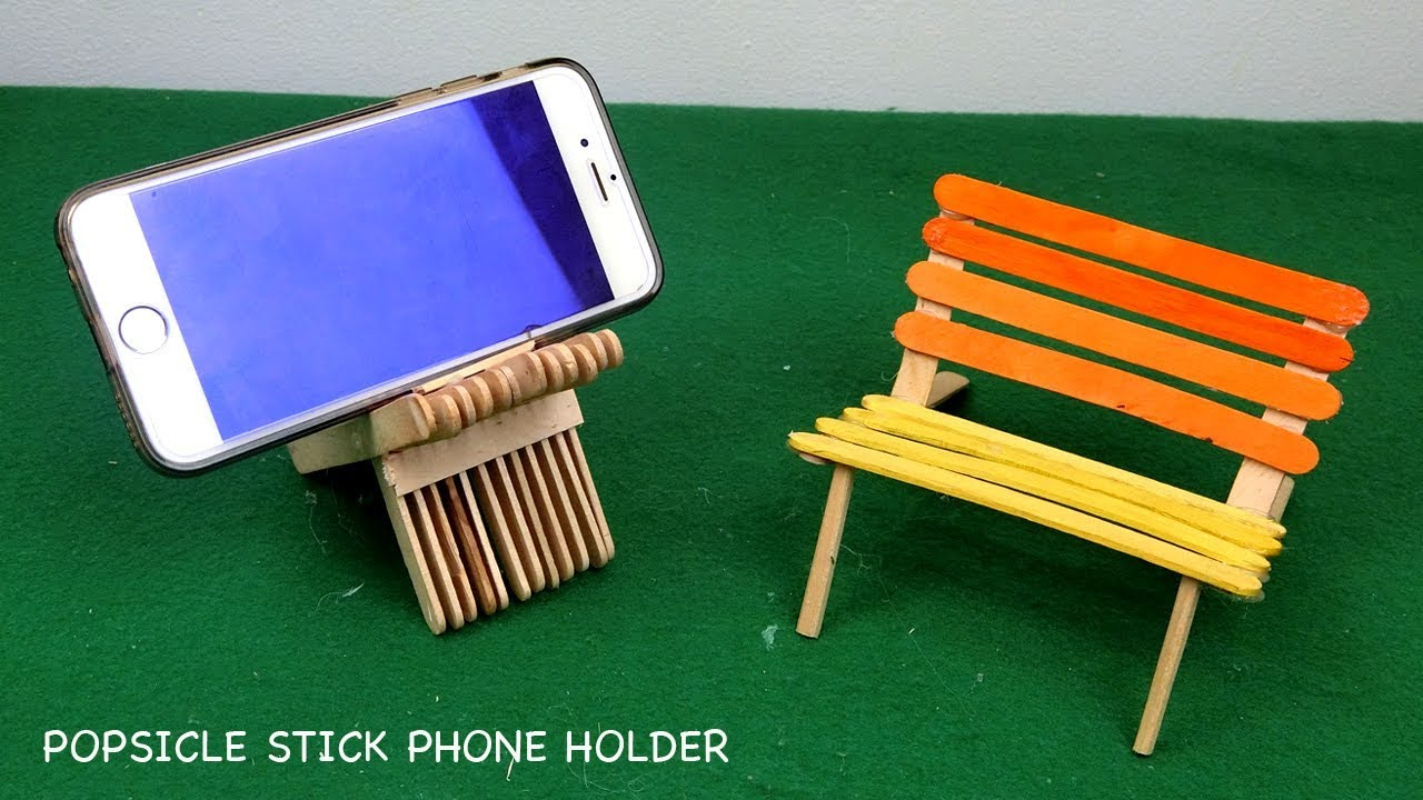 Popsicle Stick Chairs Phone Holders