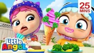 Yuck! Broccoli Ice Cream! + More | Little Angel Kids Songs & Nursery Rhymes
