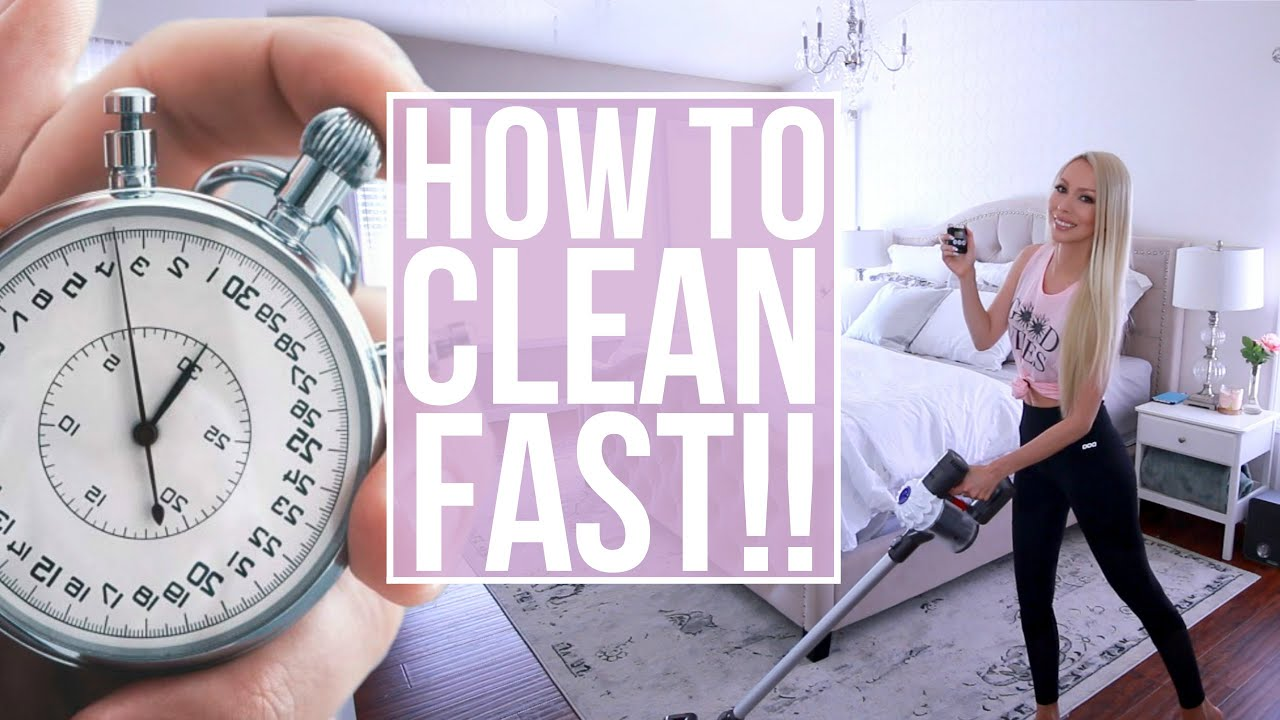 how to clean fast! my speed cleaning routine - youtube