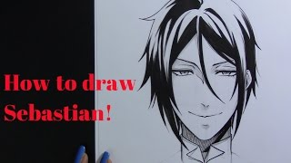 How to Draw Sebastian from Black Butler!!!! (Kuroshitsuji)