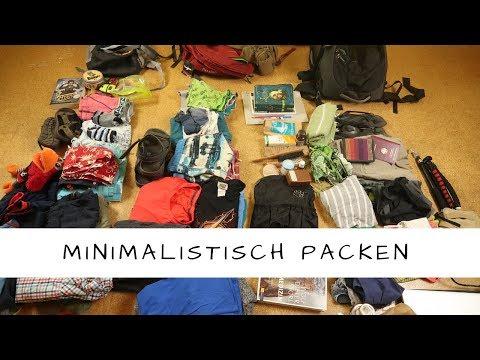Minimalistisch packen Handgepäck für je 4 Personen