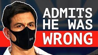 Wolff Finally Admits Bottas Not To Blame