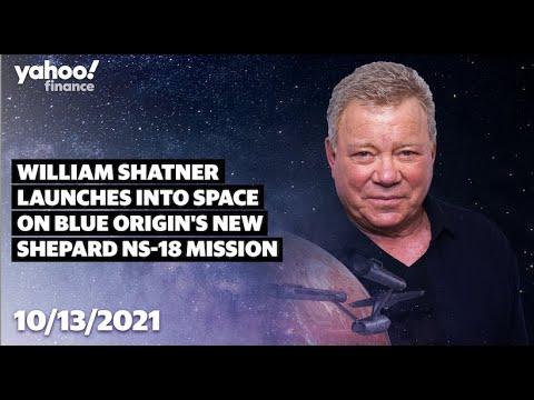 William Shatner, TV's Capt. Kirk, boards rocket for blastoff