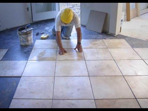 видео: Напольная плитка укладка своими руками