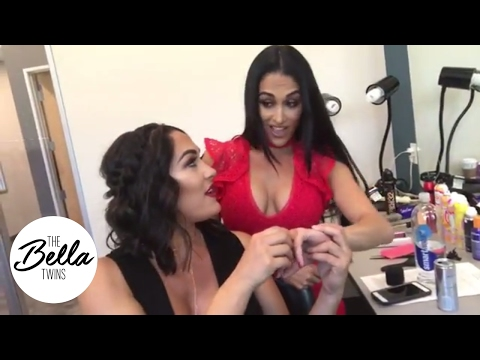 Brie Bella's reaction to Nikki's engagement ring is priceless! 💎💎💎