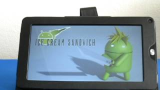 Turn on the Android 4.0 tablet MiTraveler 10C2 by Michley Tivax