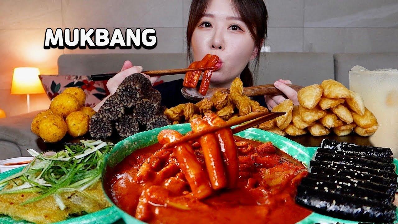 신천할매떡볶이 진짜 맵네요..🥵🌶🌶 신떡순, 꼬마김밥, 납작만두, 모듬튀김 배터지게 먹방!! Spicy Tteokbokki, gimbap, mandu MUKBANGㅣASMR