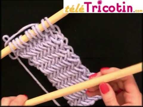 Le point ar te de hareng ou herringbone au tricot youtube - Les differents points au tricotin ...