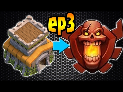Clash of Clans: TH8 TROPHY PUSH to Champion League!! ep3 - 2500!
