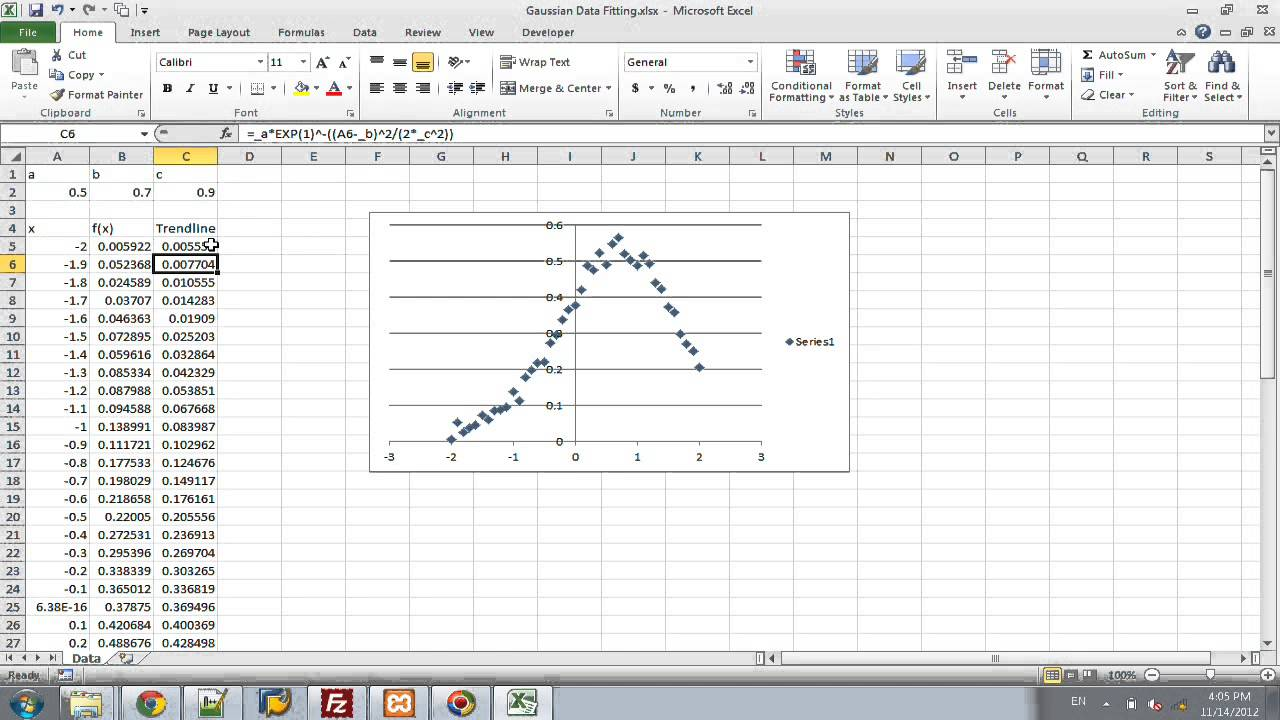 Excel - Fitting Data to Curve - YouTube