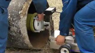 X ray pipeline crawler Operation video