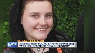 Missing teen found safe in Tennessee