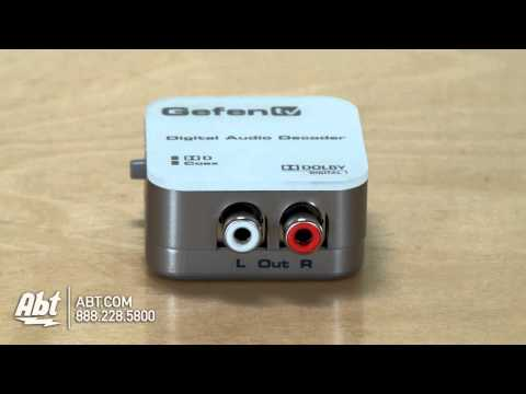 GefenTV Digital Audio Decoder GTVDD2AA Overview