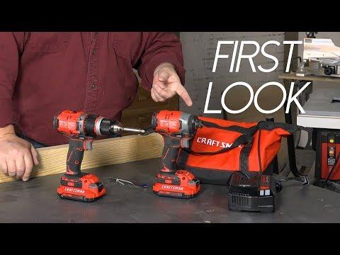 First Look!  Craftsman's New Cordless Drills & VersaTrack