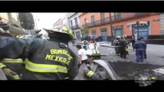 Se registran explosiones en las calles de la Cd. de México, ante la...