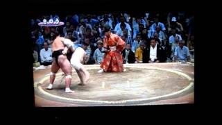 照ノ富士vs碧山 平成27年大相撲七月場所 Sumo Terunofuji vs Aoiyama.